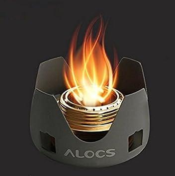 ALOCS CS-B02 Camping Spirit Burner Estufa de camping Estufa de alcohol Peso sólo 130g (CS-B02): Amazon.es: Deportes y aire libre