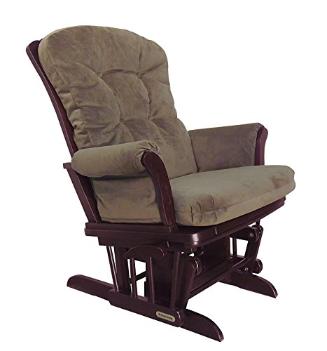 Shermag Recliner Glider Chair, Cherry Coffee