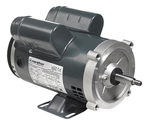 Marathon 56B34D5341 Jet Pump Motor, 1 Phase, Open Drip Proof, C-Face with Base, Ball Bearing, 2 hp, 3600 rpm, 1 Speed, 115/208-230 VAC, 56J Frame, Capacitor Start/Run