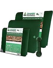 CoverUp! zeildoek groen[120 g/m2] + touw, waterproof dekzeil met ogen voor tuinmeubilair, zwembad, auto, aanhanger, waterdicht & scheurbestendig beschermend doek robuust