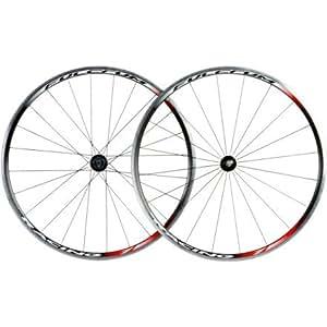 Fulcrum Racing 7 Mod 12 - Par de ruedas de bicicleta (llanta de 24 mm, radios de acero de 2 mm, RD 20 radios/ RT 24, izquierda 8 radial, derecha 16 cruzado)