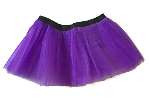 [Rush Dance Running Skirt Teen or Adult Princess Costume Runners Rave Race Tutu (Purple)] (Spartan Princess Costumes)