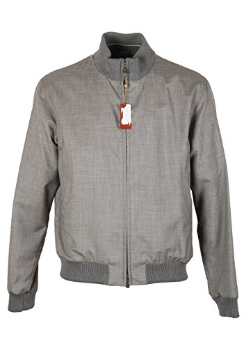 CL - Loro Piana Soulfly Gray Bomber Jack Coat Size XL Extra Large Outerwear In Cashmere (Loro Piana Cashmere)