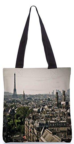 """Snoogg Paris Stadt-Einkaufstasche 13,5 X 15 In """"Shopping-Dienstprogramm Tragetasche Aus Polyester Canvas"""