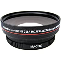 0.45x High Definition Super Wide Angle Lens w/ Macro + Exclusive 33 Street Camera Cleaning Cloth
