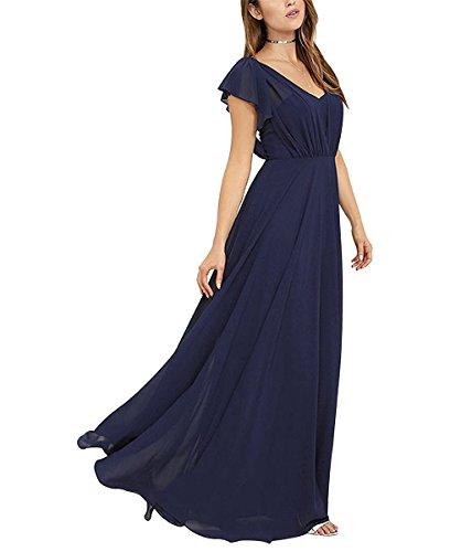 Drehouse Les Plis En Mousseline De Soie De Femmes De Longues Robes De Demoiselle D'honneur Robe De Soirée De Mariage 2018 Corail