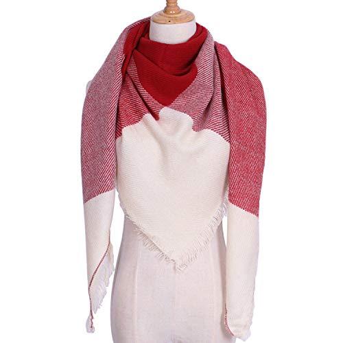 Amdxd Écosse Changer Femmes 135cm Modèle Écharpe Écharpes Couverture Hiver Rouge Cachemire Pour Automne ArAwx1H