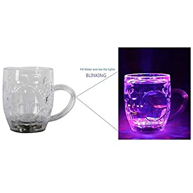 Spanking Plastic Cup With LED Light - 1 Piece, Multicolour, 250 ml 8