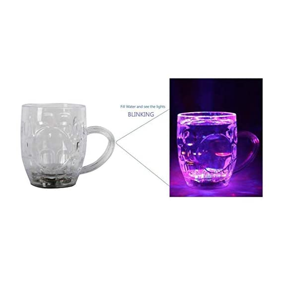Spanking Plastic Cup With LED Light - 1 Piece, Multicolour, 250 ml 3