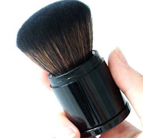 Peino Make-up-Pinsel, tragbar, einziehbar, Schwarz