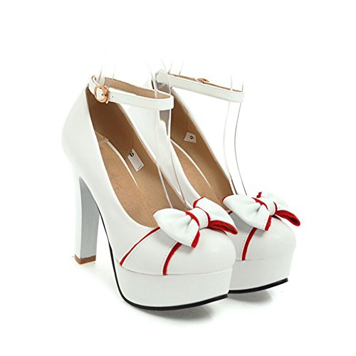 Dedo Pie Hebilla Sintético Novedad Pu Zapatos Heels Verano Mujer La Primavera Cuero Aguja Redonda Para Boda Tacón Caminando De Comfort Oficina Del IUwx6qUT