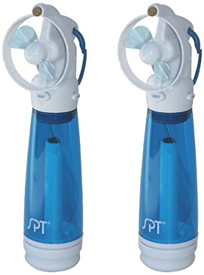 SPT SF-241WM Personal Hand-Held Misting Fan, Set of 2