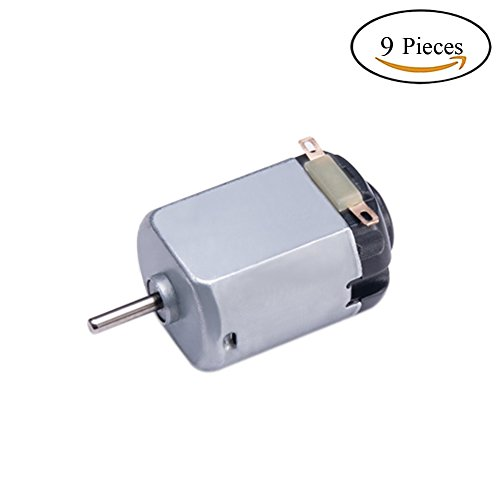 DC Motor 9 Pcs 1.5-6V 15000RPM Rectangular Mini Electric Motor for Electric Toys by Topoox