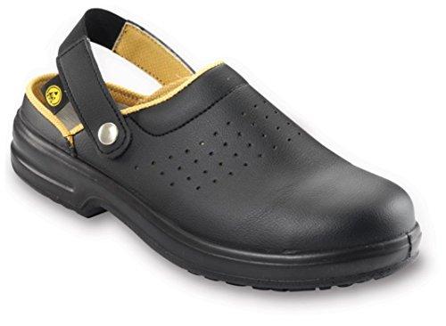 ESD Chaussures de sécurité unisexe sécurité Noir Sabots avec embout en acier (41)