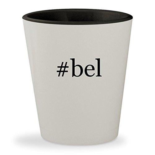 #bel - Hashtag White Outer & Black Inner Ceramic 1.5oz Shot Glass
