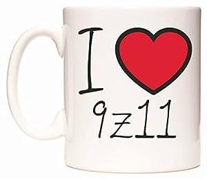 I Love 9Z11 Taza por WeDoMugs