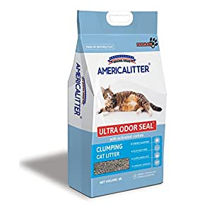 AMERICALITTER Cat Litter Clumping Odor Control Baby Powder 10L/7kg