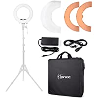 Kshioe Camera Photo/Video 12'' 5500K Dimmable LED SMD Ring Light Fluorescent Flash Lighting with Plastic Color Filter Set