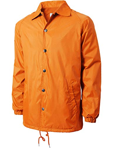 Hat and Beyond Mens Coaches Jackets Waterproof Windbreaker Coat Active Sportswear (Small, ()
