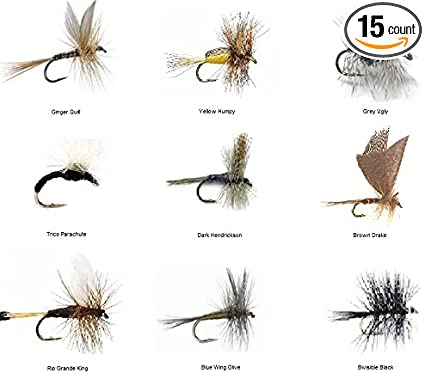 Salmon 6 x King River Caddis Dry Fly Fishing Flies For Trout