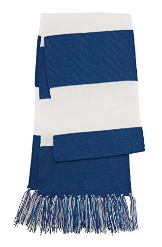 Dri-Wick Knit Stripe Scarf with Fringe (True (Knit Fringe Scarf)