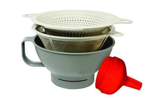 Chef's Planet #130 Multipurpose Filter Funnel Set, Gray/White/Red