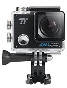 TaoTronics Action Cam 4K, Waterproof Sports Camera with Built-In Wi-Fi, 900mAh Battery, Up to 90 Minutes Videos, IPX8 up to 30m (100 ft)