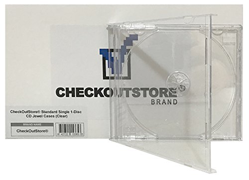 (25) CheckOutStore Standard Single 1-Disc CD Jewel Cases (Clear) - Case Jewel Clear Tray