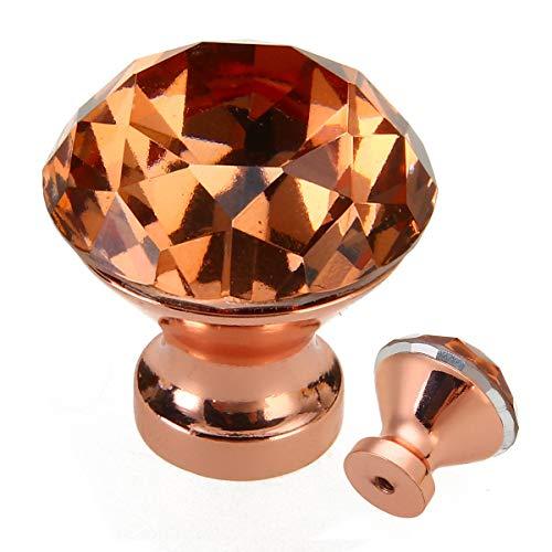 - Crystal Cabinet Drawer Door Knob 1Pcs DIY Unique Color Pull Handle Rose Gold K9