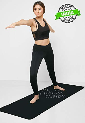 Fitness Mantra Yoga Mat for Gym Workout and Yoga Exercise Available in Large Size with 4mm Thickness |Qnty.-1 Pcs.| Price & Reviews