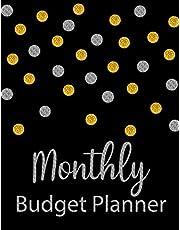 Monthly Budget Planner: Glitter Weekly Expense Tracker Bill Organizer Notebook Business Money Personal Finance Journal Planning Workbook size 8.5x11 Inches