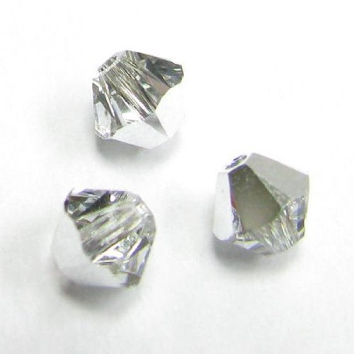 24 pcs Swarovski Elements 5328 Xilion Bicone Crystal Comet Argent Light (Cal) 5mm / Findings/Crystallized Element