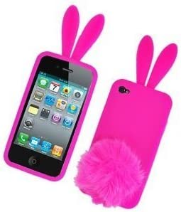 Coque support silicone lapin rose bonbon , pour Iphone 4/4S ...