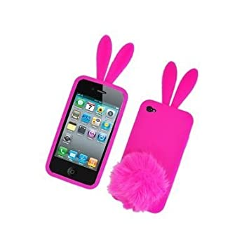 coque rose lapin iphone 4