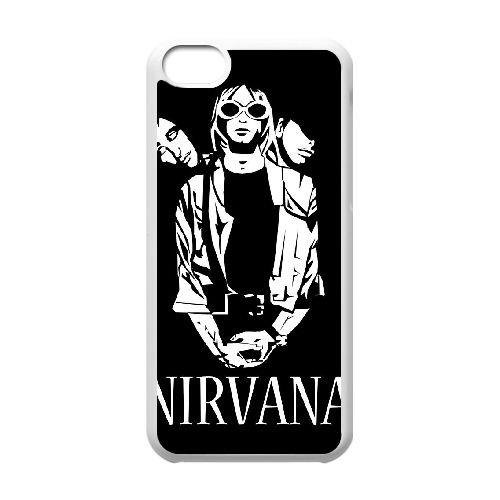 G8I21 Nirvana I5V5CD cas d'coque iPhone de téléphone cellulaire 5c couvercle coque blanche XD5WJT5TH