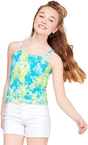 Justice Tube Top Size 8 Tie Dye Ruched Adjustable Removable Straps New W//TAGS