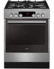 Amica SHEG 914 121 E Standing Stove Gas Hob Electric Oven Timer SoftClose Door Hot Air with Ring Radiator
