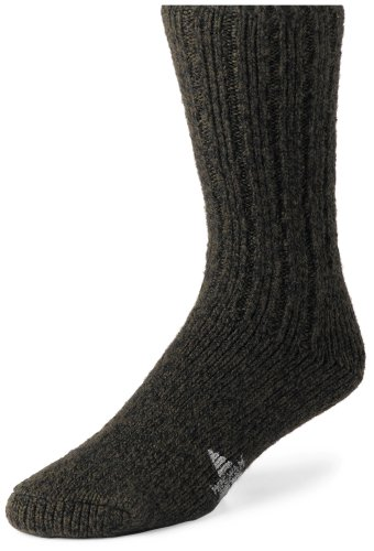 Wigwam Men's El Pine Crew Socks,Olive Heather,Large/shoe Size:Men's 9-12,Women's 10-13 El Olive