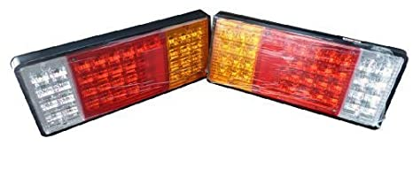 Amazon zxlighttrailer semi rig truck bus led commercial 12v zxlighttrailer semi rig truck bus led commercial 12v led tail lights taillights pair aloadofball Image collections
