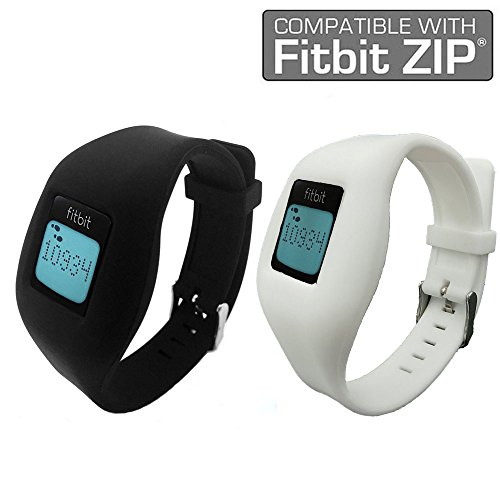 Fitbit Zip Band By Allrun, Newest Replacement Band for Fitbit Zip Accessory Wristband Bracelet (No tracker) (Black&White)