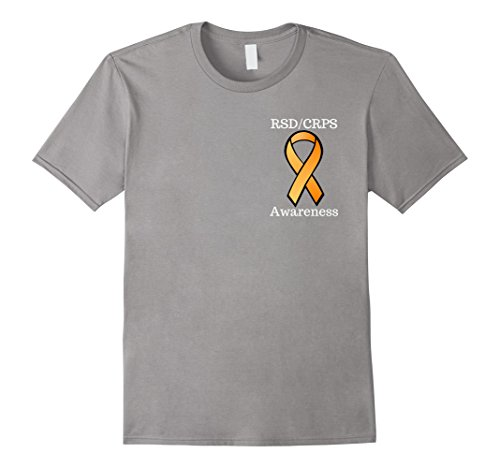 2 Sided Graphic T-shirt (Mens Complex Regional Pain Syndrome CRPS Awareness 2 Sided Tshirt 3XL Slate)