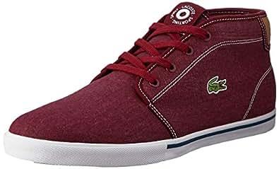Lacoste Ampthill 118 1 Men's Fashion Shoes, RED/LT TAN, 8 US