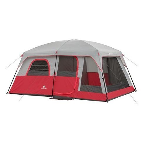 Ozark-Trail-10-Person-2-Room-Family-Cabin-Tent-Red