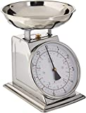 Taylor Stainless Steel Analog Kitchen Scale, 11 Lb. Capacity (Renewed)