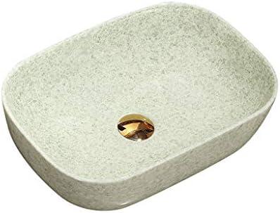 WJ 洗面台 バスルームの洗面台、正方形セラミック家庭用洗面台シンクカウンタ上流域浴室洗面単一盆地(タップ無し)、45.5X32X11.5cm /-/ (Size : 45.5X32X11.5cm)