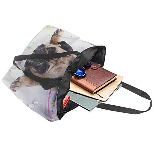 Pup Satchel Newplenty Light Shopping Beach Tote Zippered Shoulder Dog Ladies Bag Handbag qvxzqC7p