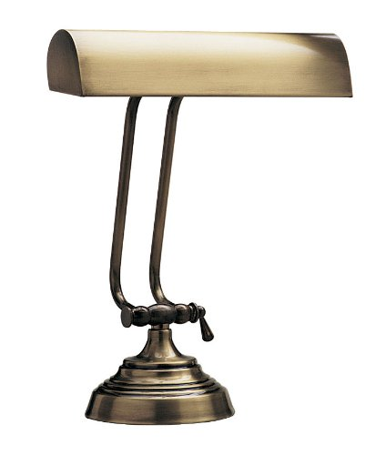 House Of Troy P10-131-71 10-1/2-Inch Portable Desk/Piano Lamp, Antique Brass Antique Brass Portable Table Lamp