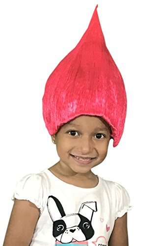 KINREX Pink Wacky Wig - Hairy Wig - Wigs for Kids and Teens