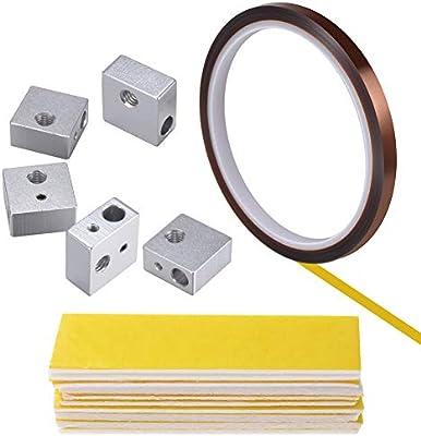 PChero 5pcs Bloques de calentador de aluminio Hotend + 10pcs ...