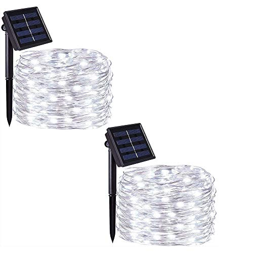 Love these solar LED cool white fairy string lights!